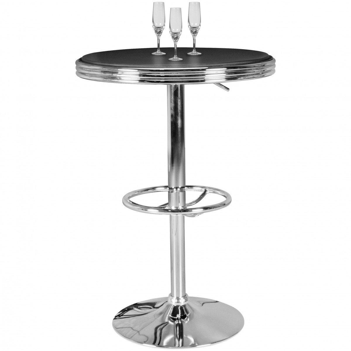 FineBuy American Diner Bartisch KING rund Ø 60 cm Aluminium ...