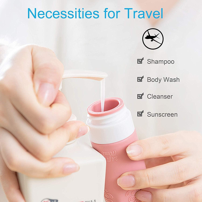 Botes Viaje loci/ón TSA Approved Botellas de Viaje de Silicona Kit de Viaje acondicionad. HRYSPN Paquete de 8 Accesorios de Viaje port/átiles para champ/ú art/ículos de tocador