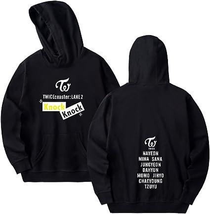 YJYP Kpop Twice Hoodie Tzuyu Mina Momo Chanyeol Sana Zipper Jacket Sweater