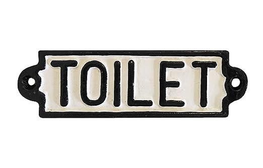 Puerta Cartel Toilet Hierro Fundido Cartel de Inodoro Cartel ...