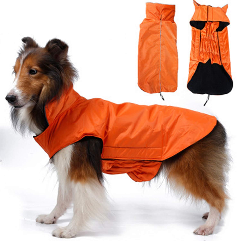 orange Small orange Small Reflective Waterproof Warm Big Dog Safety Vest Dog Jacket Dog Outdoor Sportswear Pet Clothing