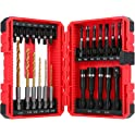 Meterk 25-Pieces of Screwdriver and Drill Bit Set
