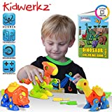 Toys : Kidwerkz Dinosaur Toys, STEM Learning (106 pieces), Take Apart Fun (Pack of 3), Construction Engineering Building Play Set For Boys Girls Toddlers, Best Toy Gift Kids Ages 3yr – 6yr, 3 Years and Up