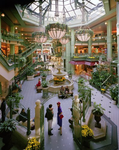 24 x 36 Giclee print of Georgetown Park shopping mall in Washington D.C.'s Georgetown neighborhood r11 [between 1980 and 2006] by Highsmith, Carol - Washington Mall Shopping Dc