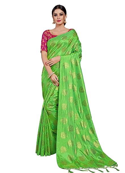 Monjolika Fashion Women S Two Tone Silk Saree