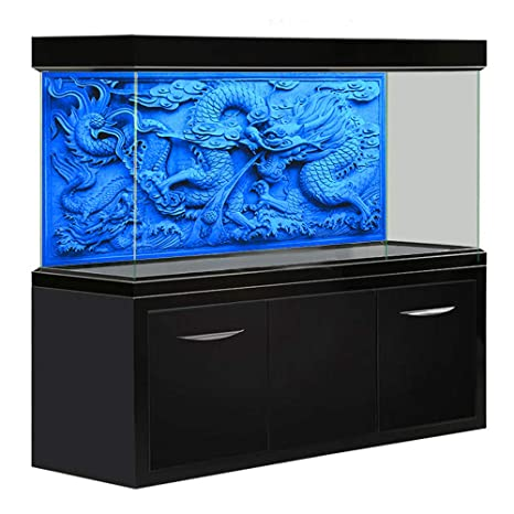 Amazon Com Amakunft 48 X 20 Aquarium Background Hd Blue Dragon