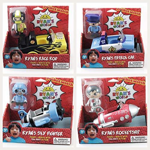 ndle with Rocket Ship, Race Rod, Sky Fighter & Patrol Car ()