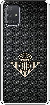 Funda para Samsung Galaxy A71 Oficial del Real Betis Balompié Betis Escudo Oro para Proteger tu móvil. Carcasa para Samsung de Silicona Flexible con Licencia Oficial del Real Betis Balompié.: Amazon.es: Electrónica