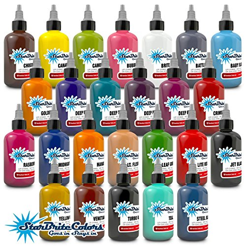 StarBrite Colors Sterilized Tattoo Ink - 25 Essential Color Set 1 oz -  INK-S-SB-291--25|1.0oz