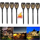 PinPle Solar Lights Christmas Gift 8 Pack of Solar Path Torches Lights 96 LED Dancing Flame Torches Lights Outdoor Landscape Decoration for Patio Garden Path Yard Wedding Party (8 PACK)