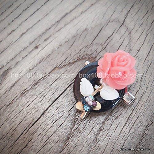 Blackstone Pin - to imports exquisite handmade flowers Blackstone wishful jade leaf pin brooch ring coats 381