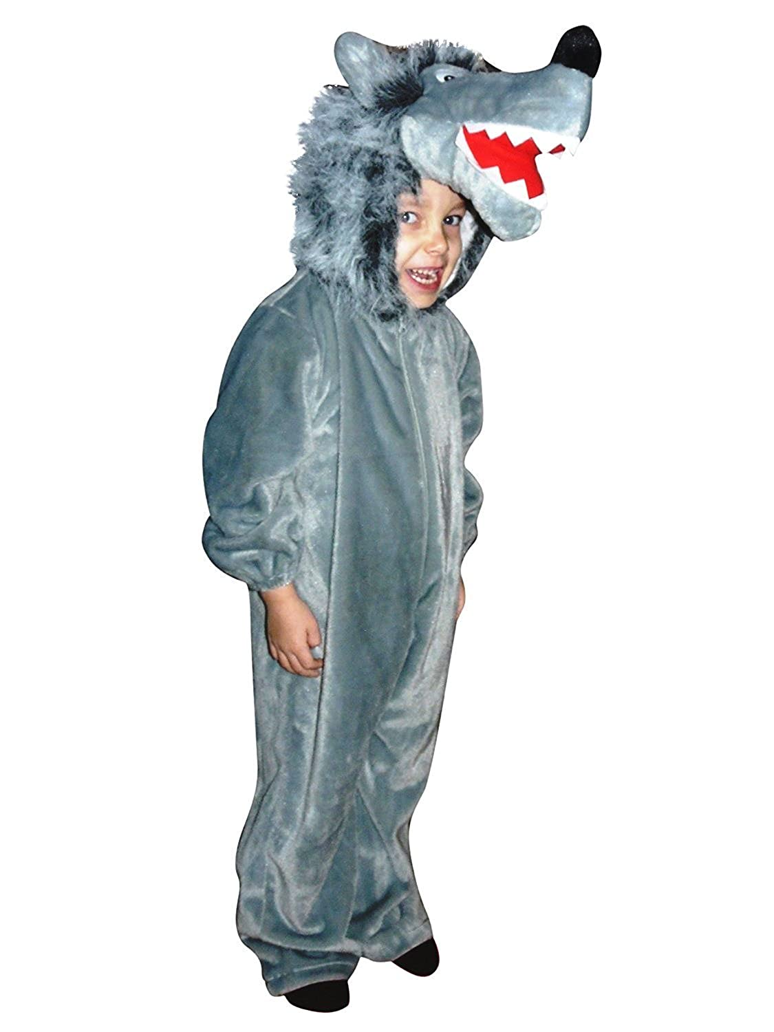 Amazon.com: Fantasy World Wolf Halloween Costume, Fancy Dress up ...