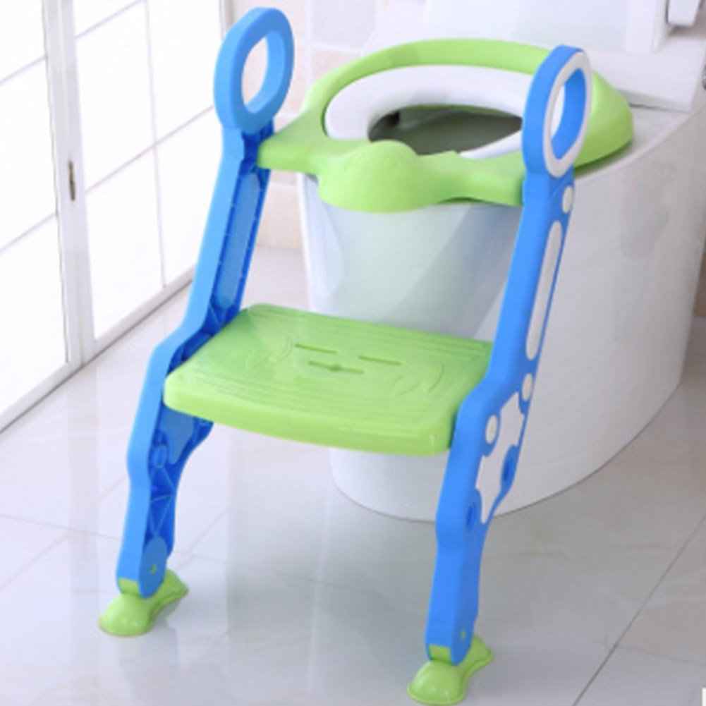 YAOBAO Potty Training Seat,Children's Toilet Seat Chair,Toddlers Toilet Training Step Stool For Girl And Boy, Blue,Blue