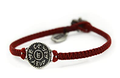 7e1f52ba5bef07 Image Unavailable. Image not available for. Color: Financial Success Amulet Hand  Woven Red Charm Bracelet for Men