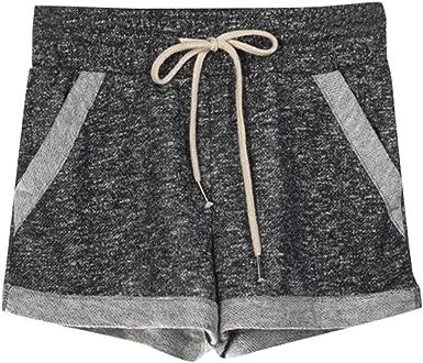 Workout Yoga Short Pants Athletic Drawstring Elastic Waist Shorts with Pocket wodceeke Womens Running Shorts