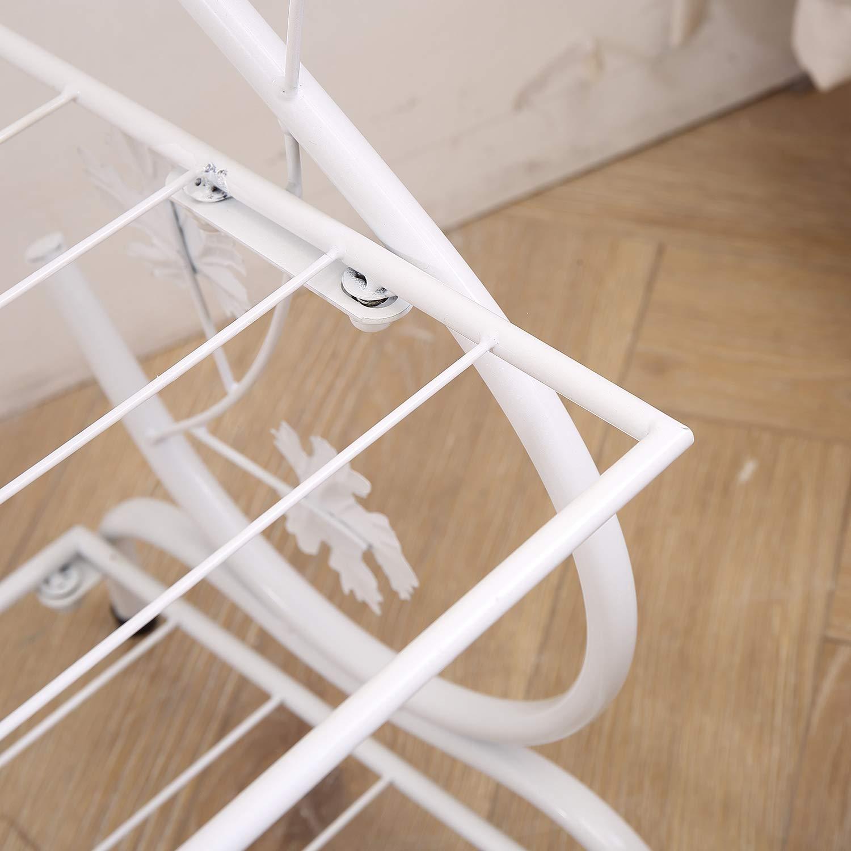 AcornFort/® S-221 3 Tiers 9 Pairs FULL METAL White S Shape Shoe Rack Shoe Organiser Shelf Hold Stand