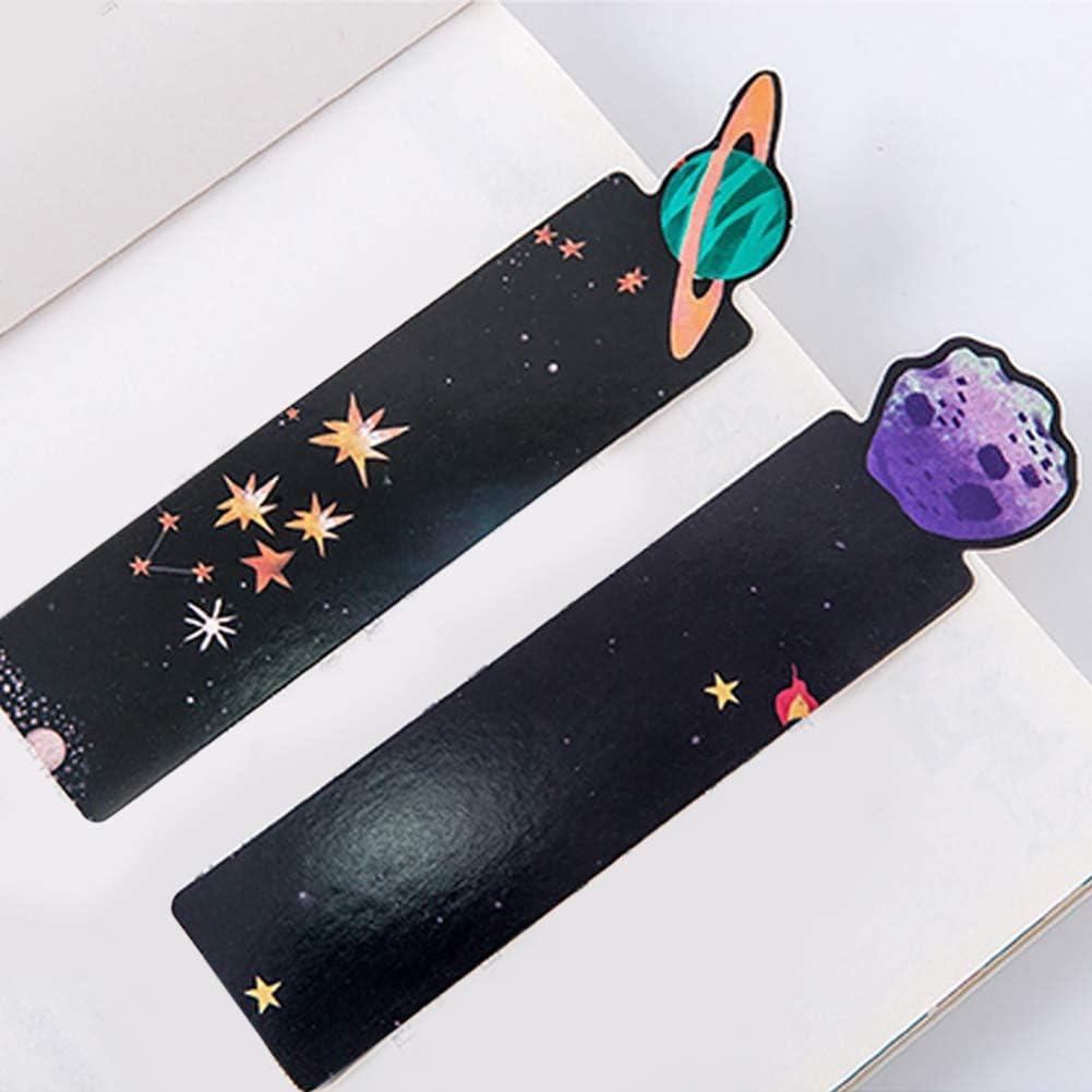 newhashiqi Lesezeichen Schulbedarf Random Pattern Papier-Lesezeichen Planet Serie Geschenk 30 St/ück