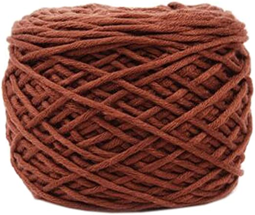 Ovillo de lana gruesa de algodón premium para bufanda, color café ...
