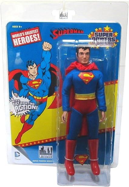 "DC Comics Justice League of America Rétro Mego-style 8/"" Figure Superman World/'s Greatest Heroes"