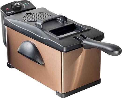 Bestron Copper Collection Freidora, 2000 W, 3.5 litros, Cobre ...