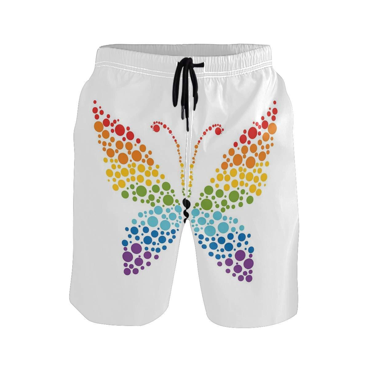 KVMV A Cute Retro Baby Boy Theme Quick Dry Beach Shorts