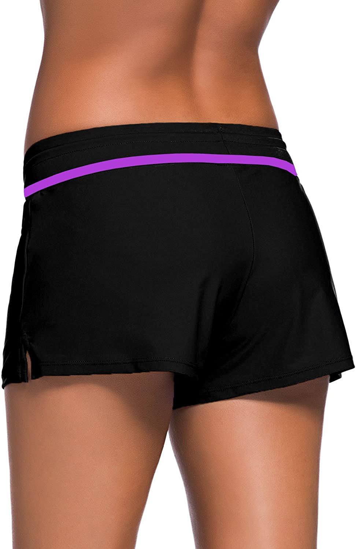 LAIKETE Pantaloncini da Bagno Donna Pantaloni con Coulisse Regolabile Costume a Pantaloncino da Surfe Nuoto Bikini Multicolore