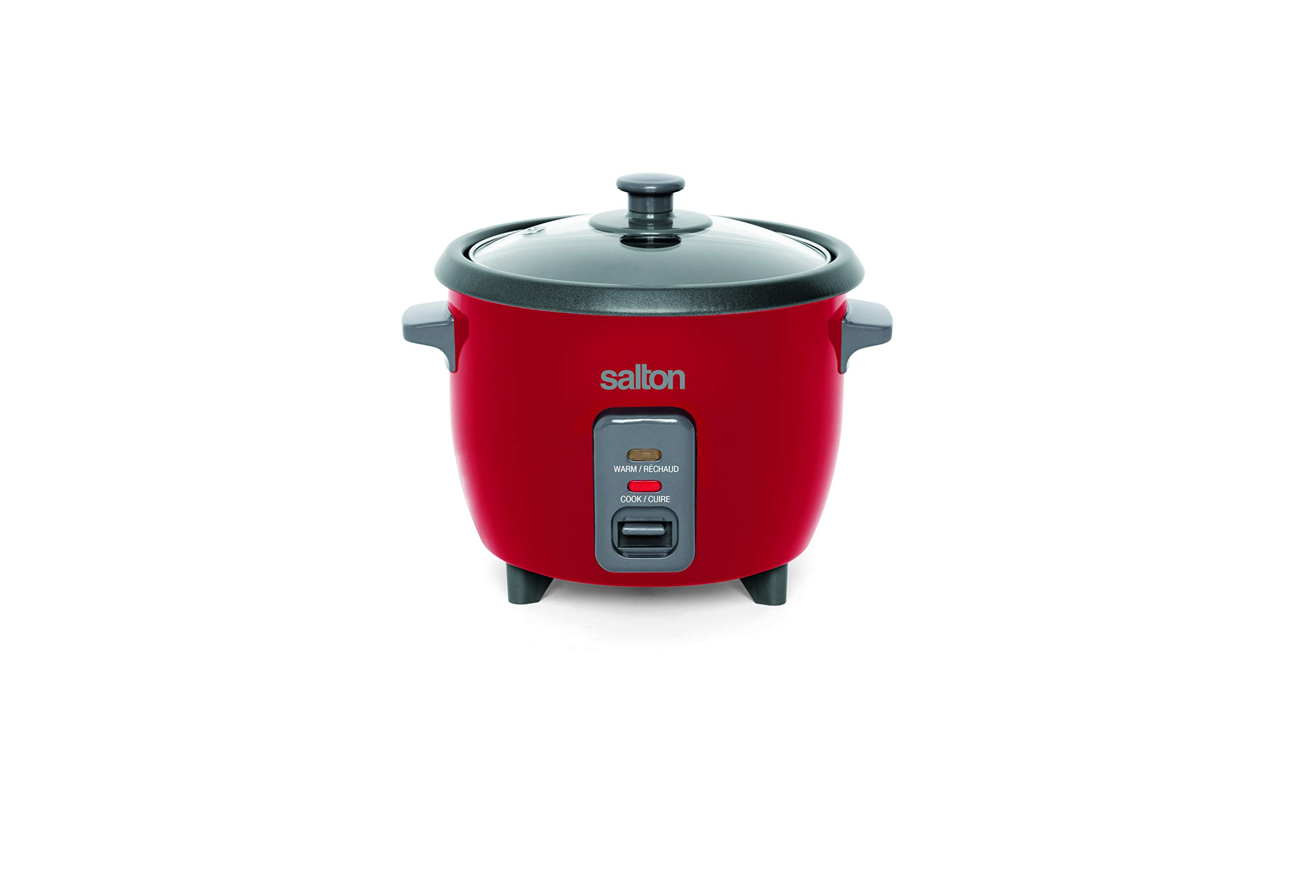 Salton RC1653R Automatic Steamer, 6 Cup Rice Cooker, Red