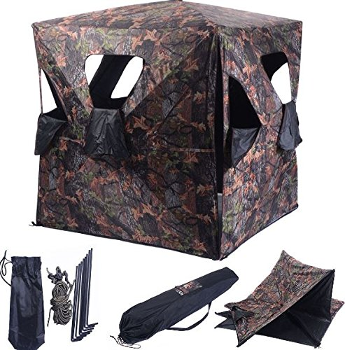 K&A Company Ground Hunting Blind Portable Deer Pop Up Camo Hunter Outdoor New Waterproof 2-3 Person Storage Bag by K&A Company (Image #5)