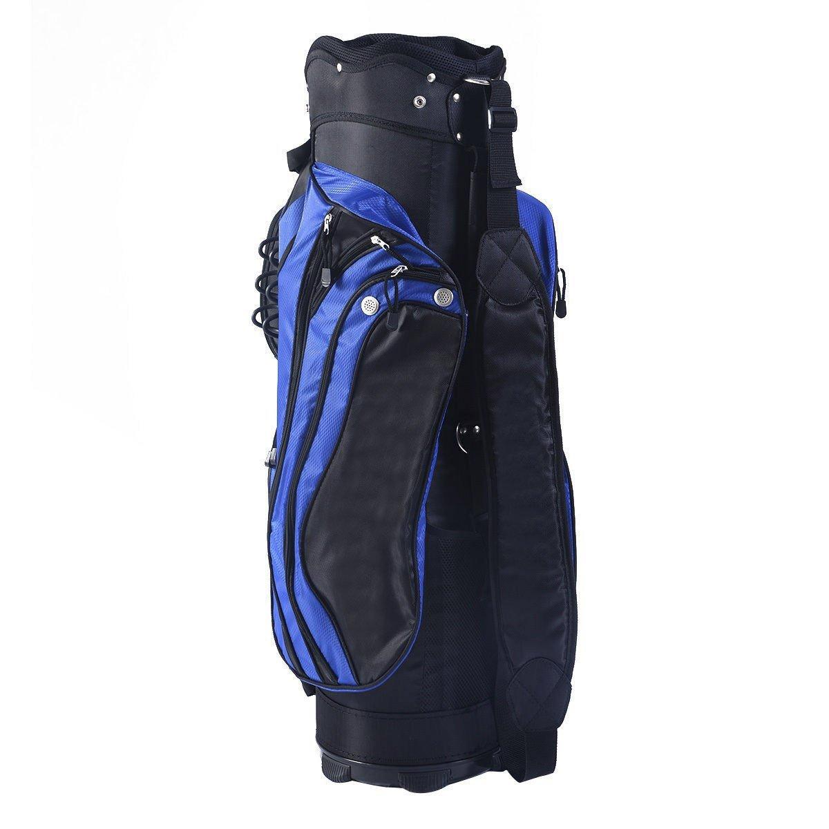 Tangkula 2016 Golf Carry Bag 14 Way Divider Lightweight w/Carry Belt Blk&Blue by TANGKULA (Image #1)