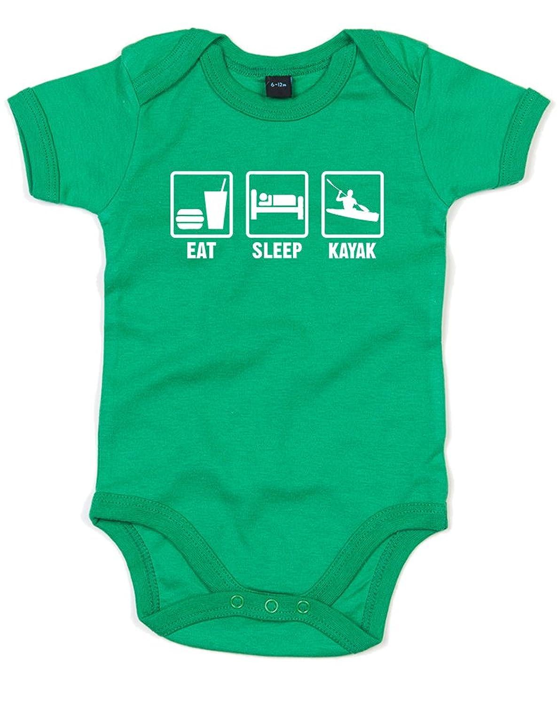 Eat Sleep Ski, Gedruckt Baby Strampler