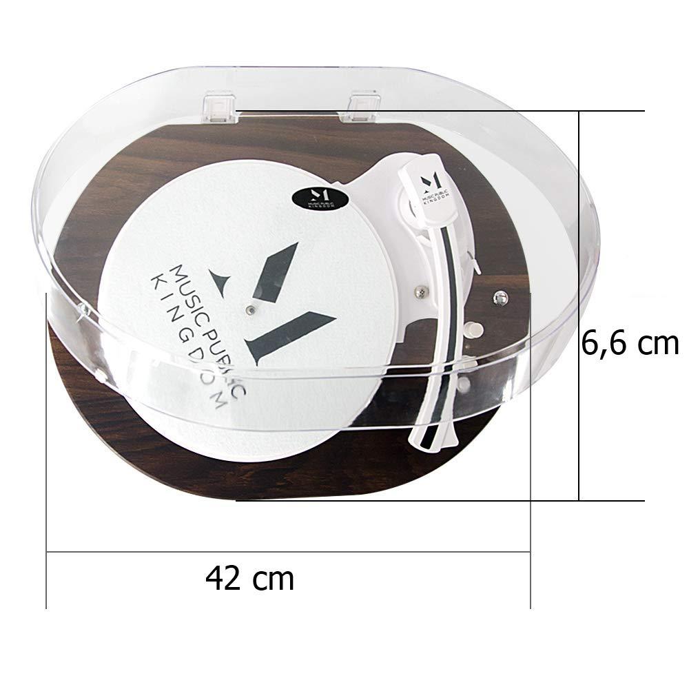 2 Velocidades Accionado por Correa Reproductor Discos de Vinilos con Altavoz Est/éreo Incorporado y Aguja Magnetica Lauson TT238-LSN Tocadiscos Moderno con Bluetooth y Luces Led Incorporadas