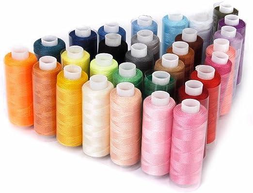 30 bobinas de hilo de coser poliéster 229 m cada una, multiusos ...