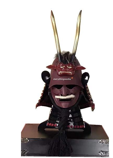 Amazon.com: Everythingwushu Casco Real de Armors Japonés de ...