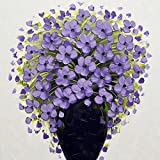 5D Full Drill Diamond Painting Kit, DIY Diamond Rhinestone Painting Kits for Adults and Children Embroidery Arts Craft Home Decor 15.8 x 15.8 inch (Lilac)