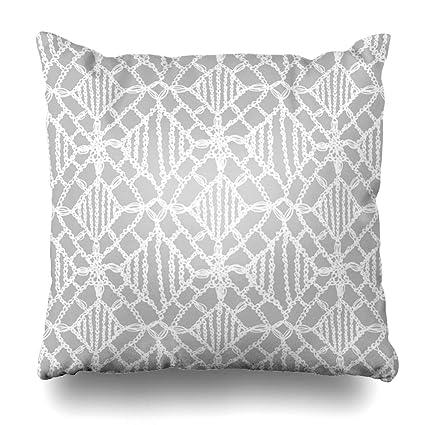 Amazon.com: Ahawoso Throw Pillow Covers Delicate Macrame ...