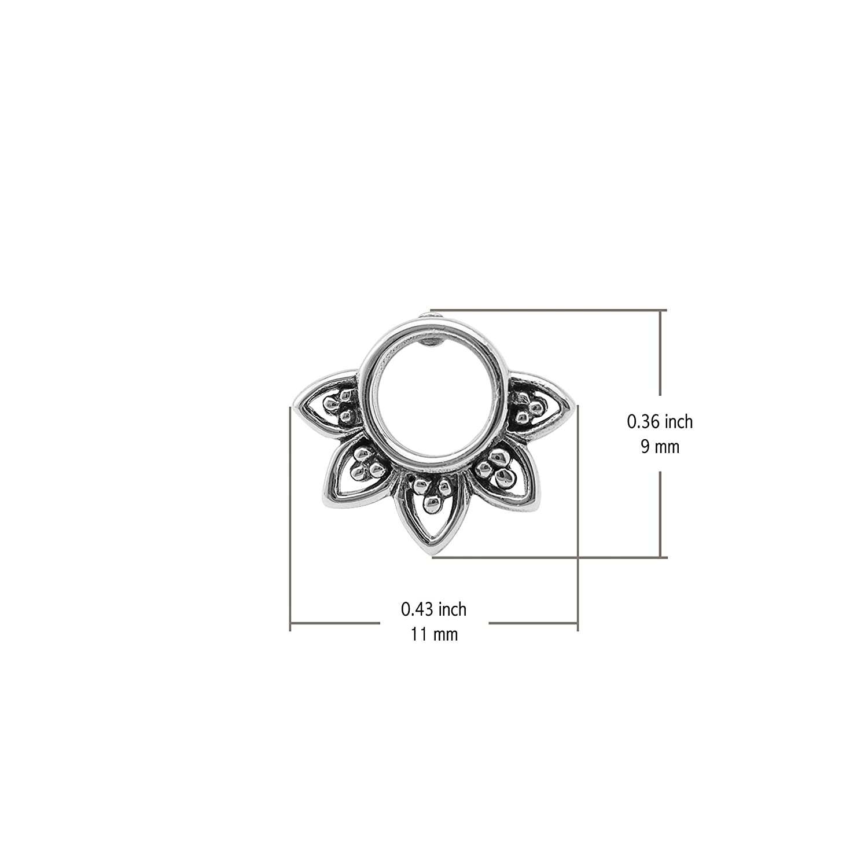 Boma Jewelry Sterling Silver Balinese Filigree Circle Stud Earrings ES 2262