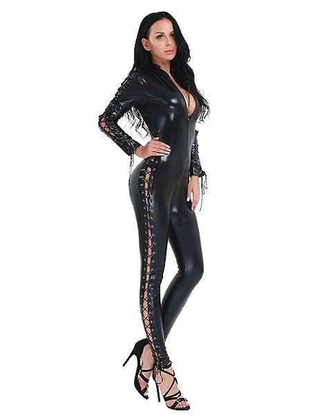 YOOJIA Sexy Catsuit para Mujer Difraz de Segunda Piel ...