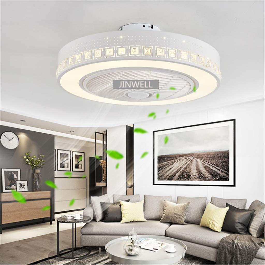 JINWELL Fan Ceiling Light Creative Modern Ceiling Light LED Dimmable  Ceiling Fan with Lighting and Remote Silent Nursery Bedroom Lamp Office ...