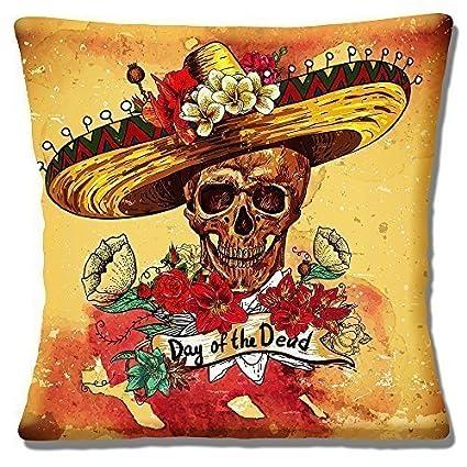 Retro Sombrero Mexicano Calavera Del Día De Los Muertos 1640cm