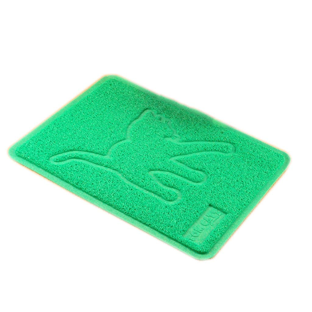 Cat green 3648cm Cat green 3648cm Pet Mat Rectangular Cat Litter Mat Kennel Squat Mat Closed Litter Box Cat Toilet Mat Cat Mat Placemat Supplies (color   Cat Green, Size   36  48cm)