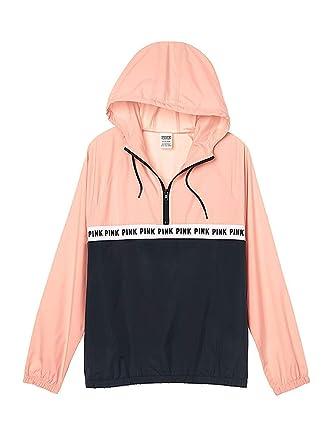 cc222e74c08cf Victoria's secret Pink Anorak Windbreaker Quarter Zip Jacket Pink  Medium/Large NWT