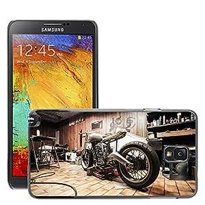 Hot Style Cell Phone PC Hard Case Cover // M00171281 Motorbike Garage Repairs Hobby // Samsung Galaxy Note 3 III N9000 N9002 N9005