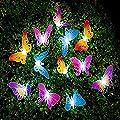 Berocia Butterfly Solar String Lights Outdoor, 12 LED Waterpoof LED Solar Butterfly Lights Outdoor Indoor for Bedroom