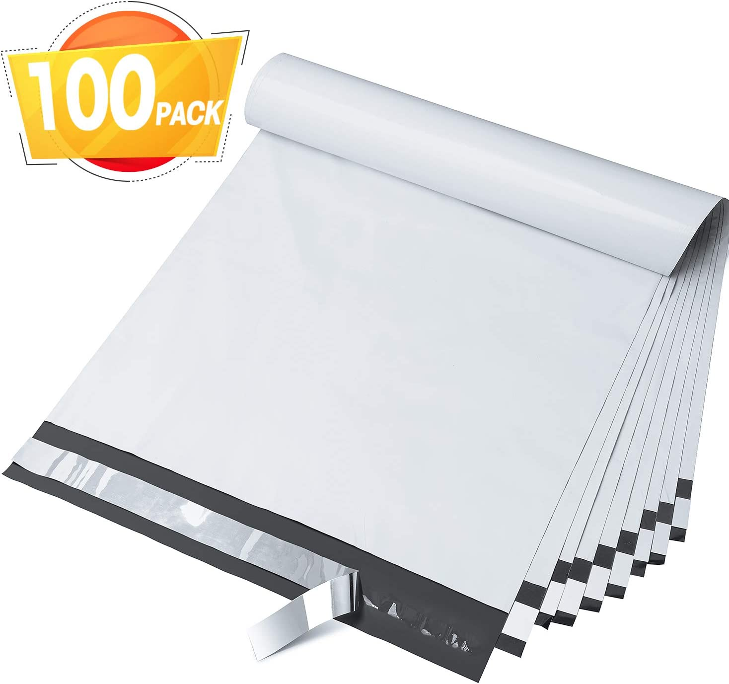 100pc White Poly Mailers Shipping Envelop