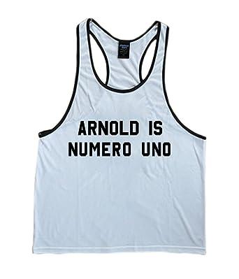 61bc1a081e7ab Arnold Schwarzenegger Numero Uno Men s Stringer Tank Top at Amazon Men s  Clothing store