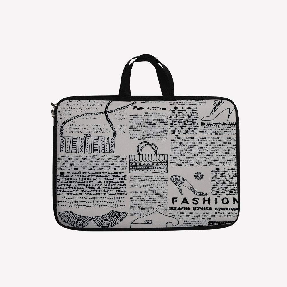 無料発送 3Dプリントダブルジッパーラップトップバッグ、フランス広告 inch(16.7