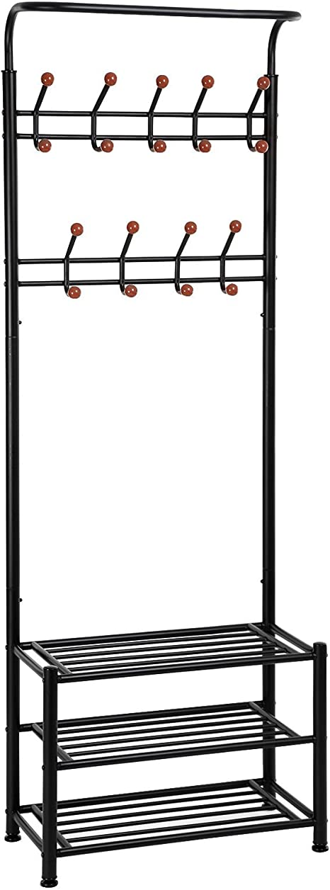 Amazon.com: SONGMICS Entryway Coat Rack with Storage Shoe Rack