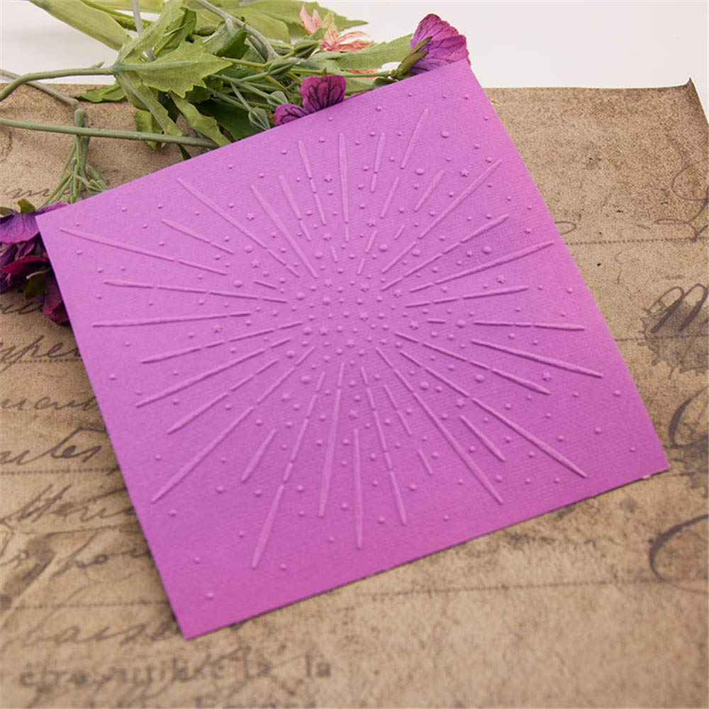 Fireworks Background Plastic Embossing Folders for DIY Card Making Decoration Stencil Scrapbooking Tools