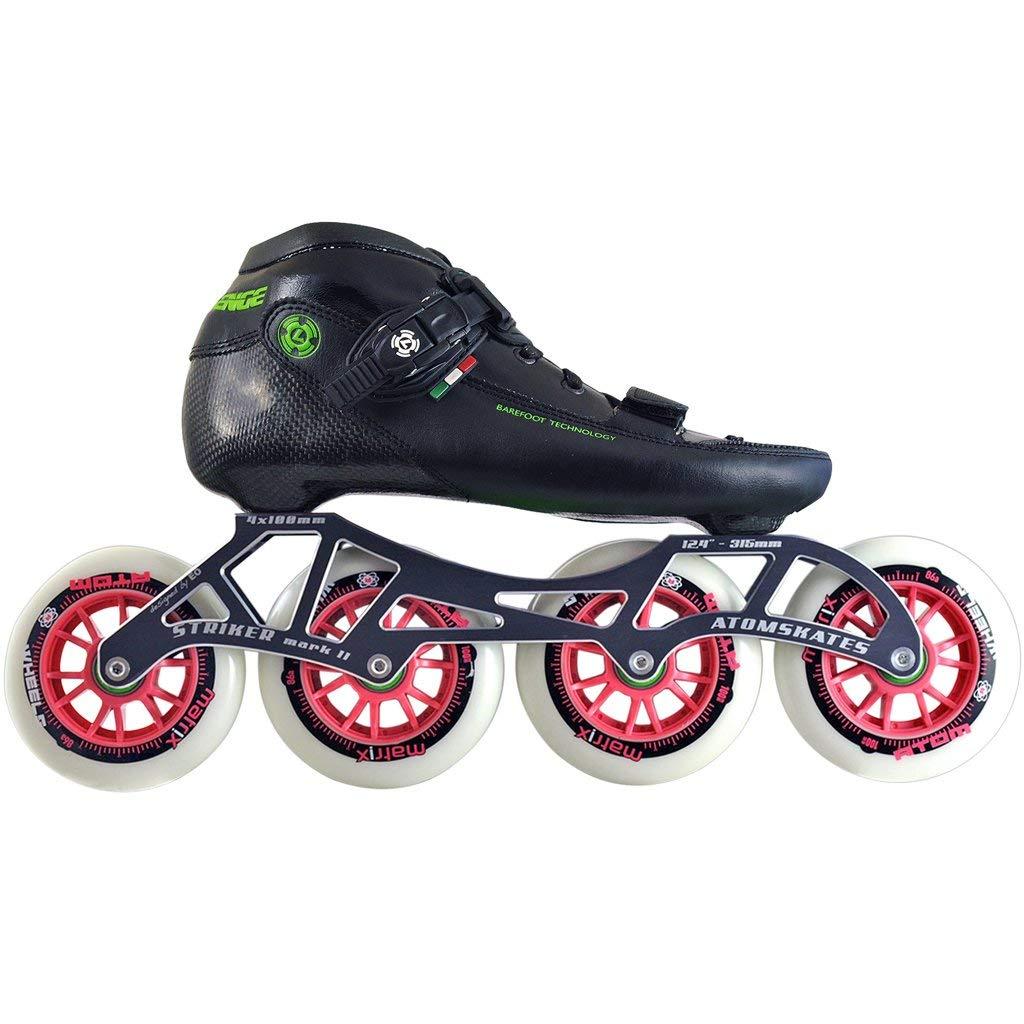 Atom Luigino Challenge Inline Skate Package (Size 13, Pink)