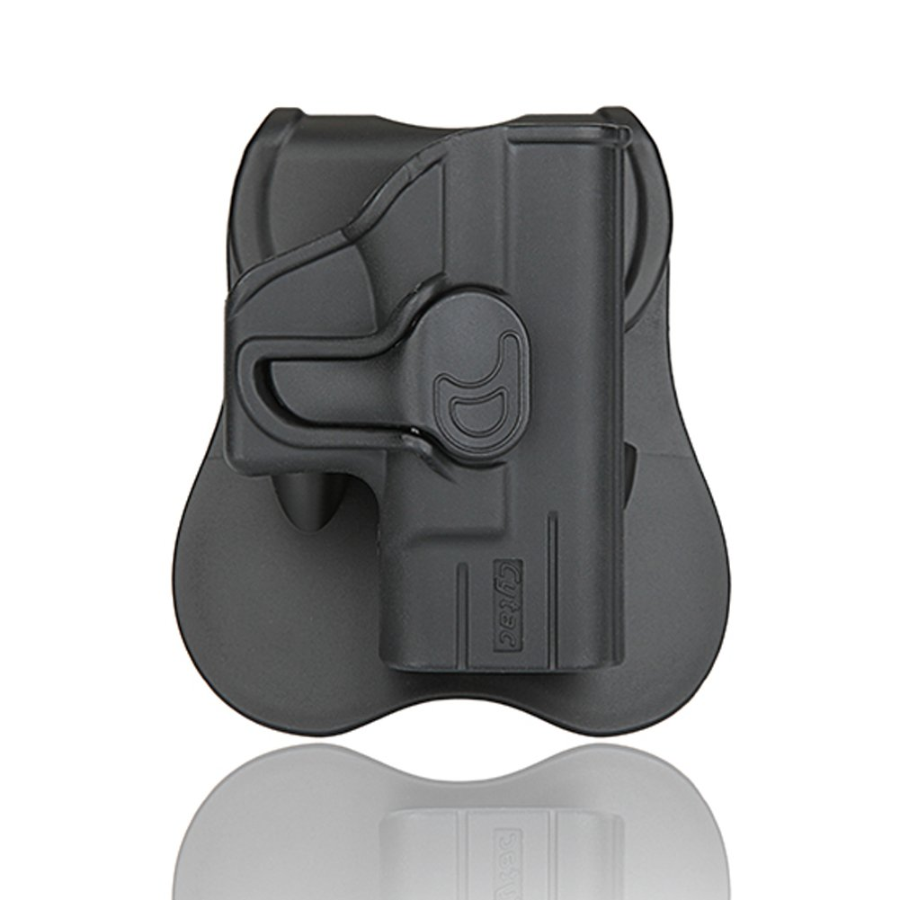 sumtop Glockパドルホルスターwithトリガーリリース調節可能Cant、樹脂射出成形のホルスターGlock 17 19 21 22 23 26 27 31 32 33 42 43 OWB Carry、RH B07B8NK7ZJ